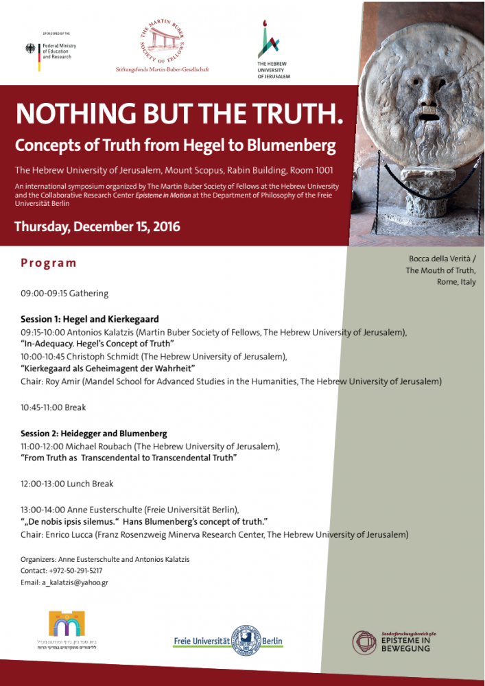 Workshop on the Concept of Truth 15 December 2016
